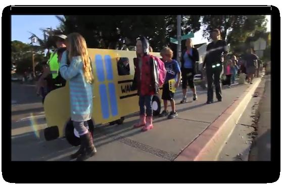 Beach Cities Walking School Bus programs saves 15,000 car trips as kids take 30 million steps [VIDEO]