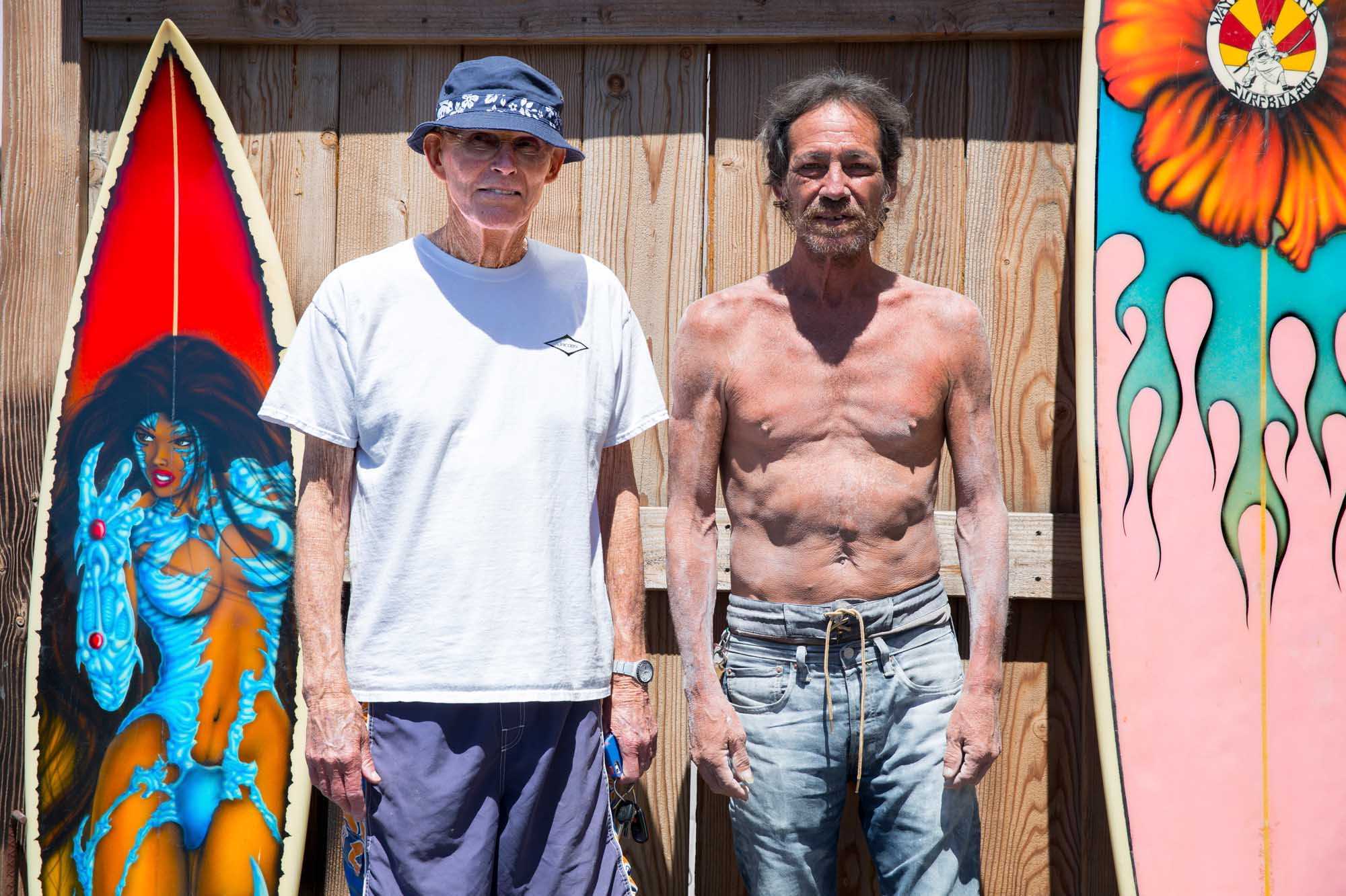 Work of Art: Cypress Street fixture Keoni Boyd, after decades in surfboard industry, looks back with a Hermosa Beach gallery show steps from the places he calls home