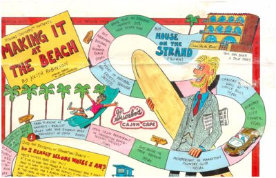 Robinson was video game maker,  Making it at the Beach cartoonist