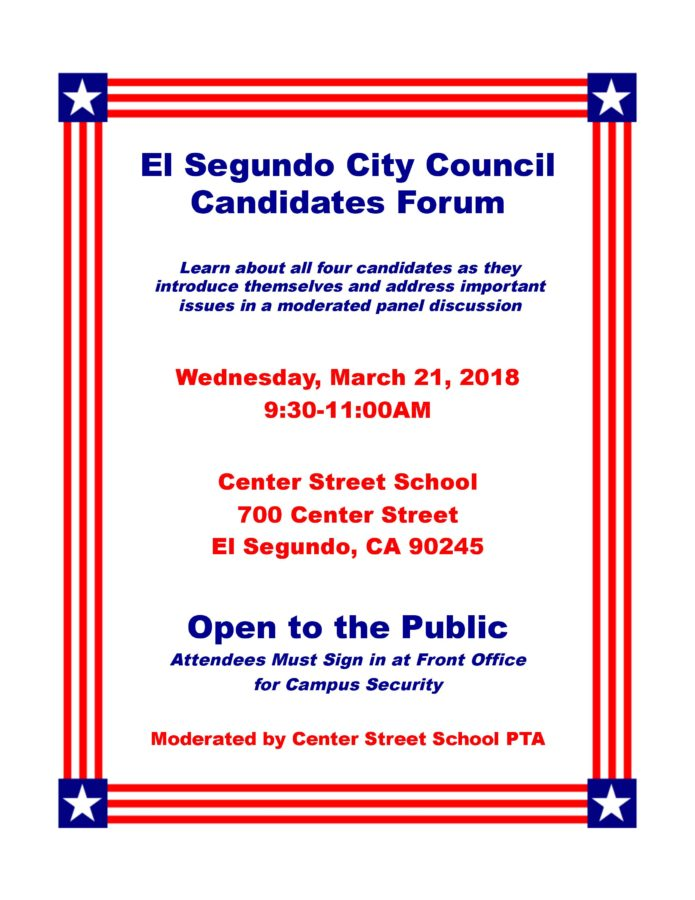 Candidates Forum @ Nakano Theatre Torrance Cultural Arts Center | Torrance | California | United States