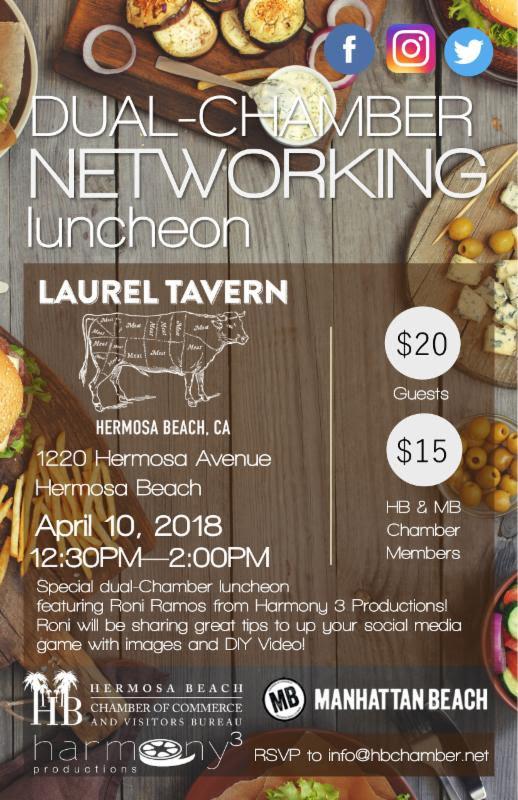 Dual-Chamber Networking Luncheon @ Laurel Tavern | Hermosa Beach | California | United States